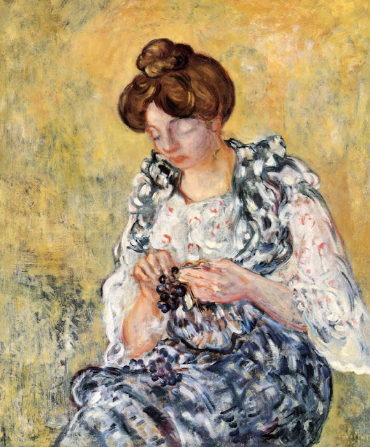 Louis Valtat - Woman with Grapes.