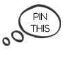 Speech Bubble pin me button for pinterest