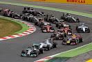 Start of the 2014 Spanish F1 Grand Prix first corner
