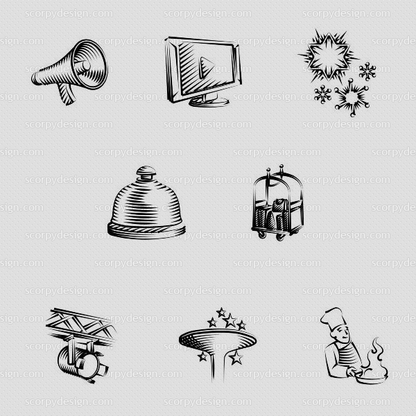 hotel icon design