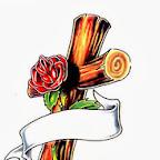 rose - Crosses Tattoos Designs