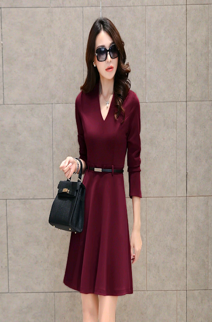 The Marsala is the colour pantone of the year 2015.Be the first to own one.  http://www.amosome.com/p-484-alineshapingdresswithbelt.html