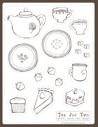 graphic relating to Tea Party Printable titled Delectable Totally free Down load Tea Occasion Printables and a
