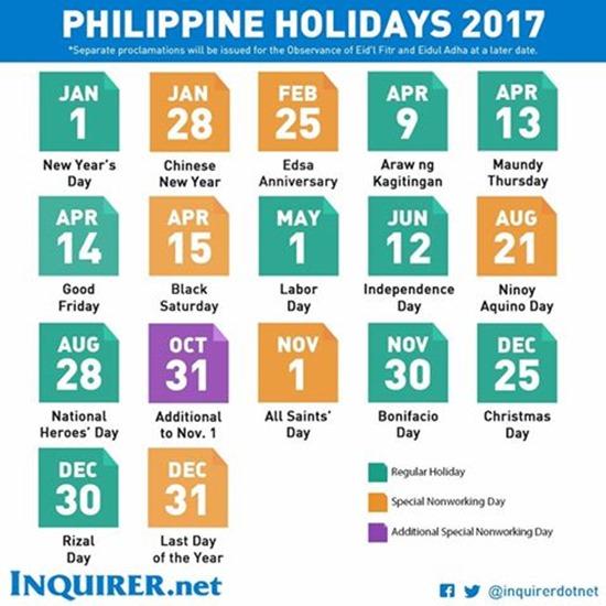 National Holiday 2017