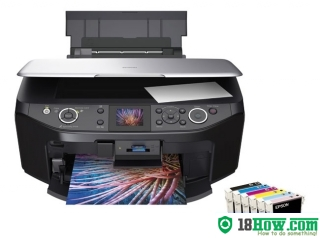 How to reset flashing lights for Epson RX610 printer