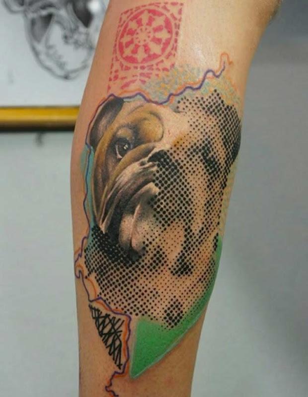 Esta metade de meio-tom bulldog