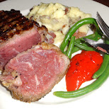 delicious steak dinner in Toronto, Ontario, Canada