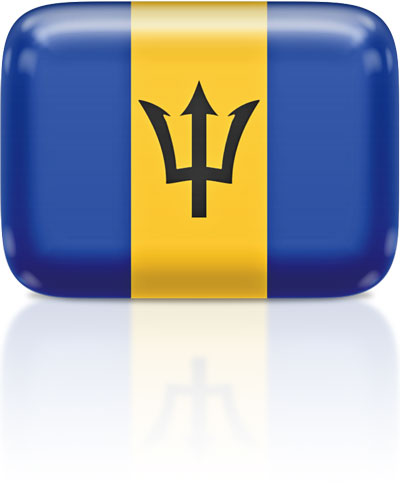 Barbadian flag clipart rectangular
