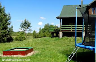 Photo: Piaskownica dla dzieci. Stoi przy trampolinie.