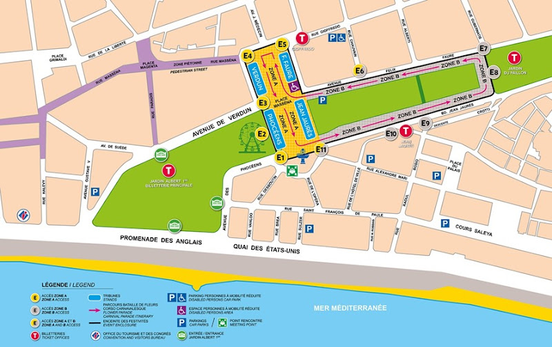 Carnaval de Nice plan 2017
