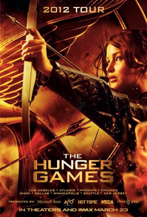 Poster Of The Hunger Games (2012) Full Movie Hindi Dubbed Free Download Watch Online At Alldownloads4u.Com