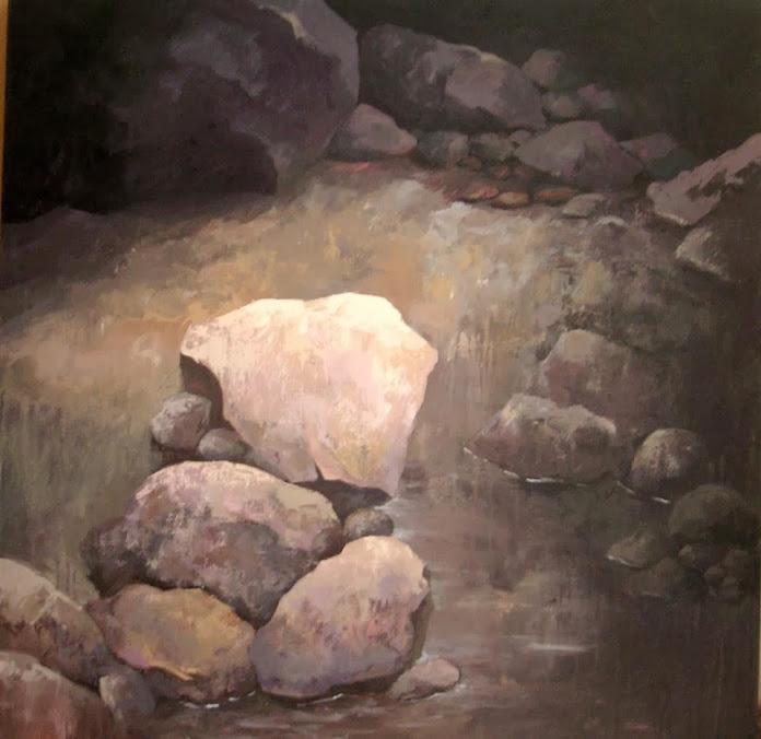 Ana Hernández Morote,Pintora,Pinturas, Ana Hernández Morote pinturas,Pintura Stones, light and water I