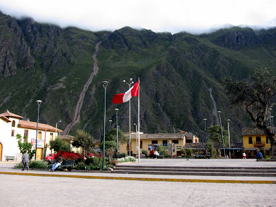 Town square in Ollantaytambo Peru