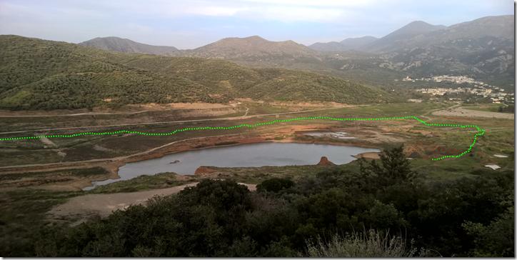 Panoramamik mit  Höhenunterschied Avdou
