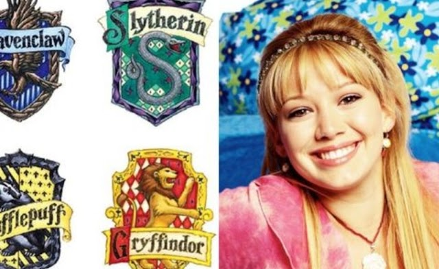 As Casas de Hogwarts com personagens de Lizzie McGuire