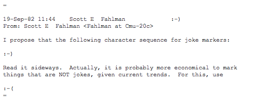 professor scott fahlman, emoticon