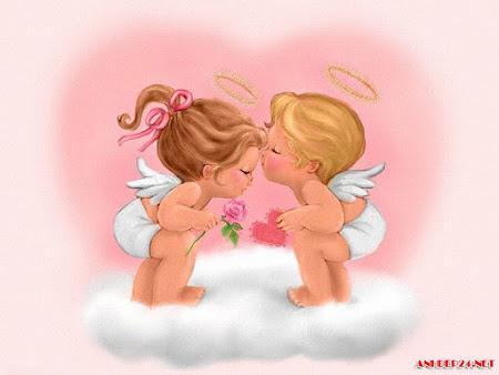 12 Hình ảnh Thiên thần tình yêu dễ thương làm hình nền điện thoại