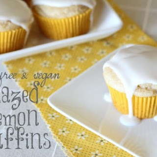 Gluten Free Vegan Glazed Lemon Muffins
