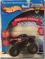 hot wheels monster truck series list airborne ranger