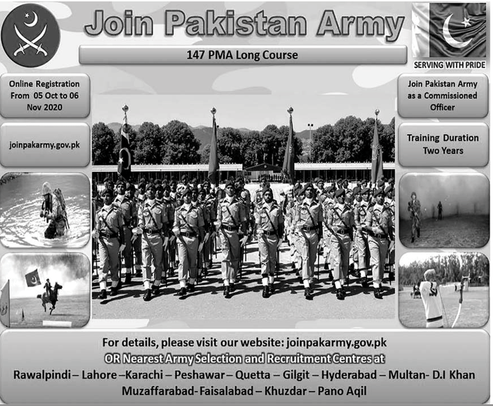 Join Pakistan Army Commissioned Officer PMA Long Course 147