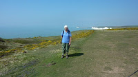 Margaret on the South Downs Way