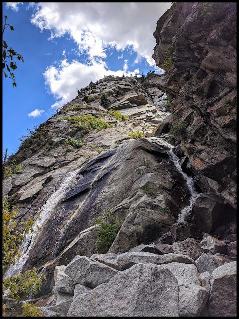 Base of Coalpit Gulch Waterfall