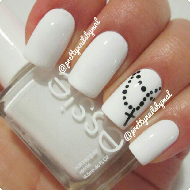 Great And Easy Black And White Colors Nail Designs Fashion 2d