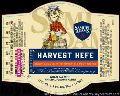 Image result for sam adams harvest hefe