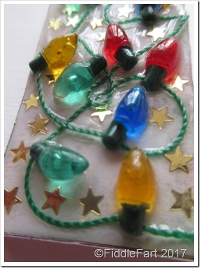 Domino Crafts Christmas Lights Tag