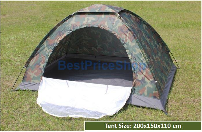 Lightweight Camouflage 2 Persons Army C&ing Outdoor Tent with Moisquito Net & Camo Lightweight 2 Persons Army Camp (end 1/19/2019 1:19 PM)