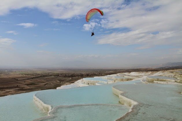 Paragliding at Pamukkale, Turkey