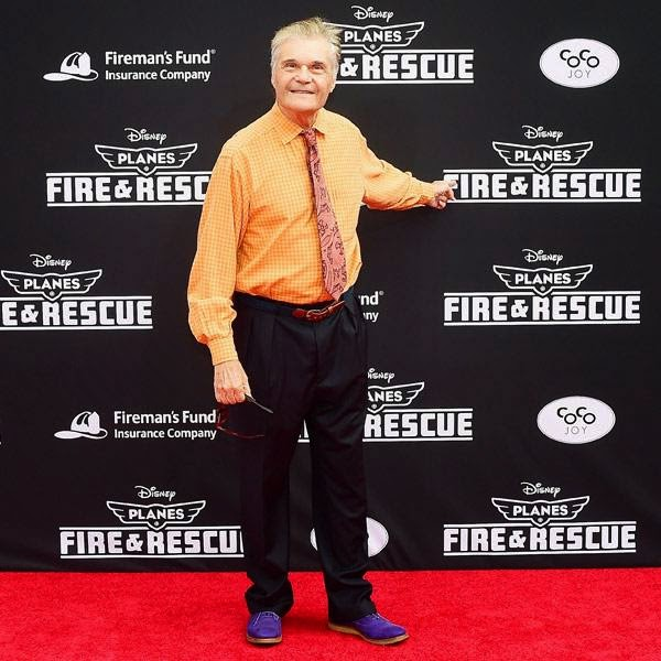 Fred Willard poses on arrival for the world premiere of the film 'Planes Fire & Rescue' in Hollywood, California, on July 15, 2014.