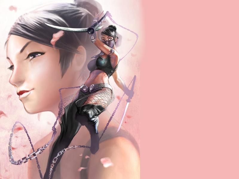 Pink Samurai Ninja, Magic Samurai Beauties