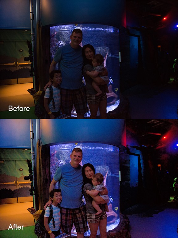 Fix family vacation photos in one click with Fix Dark