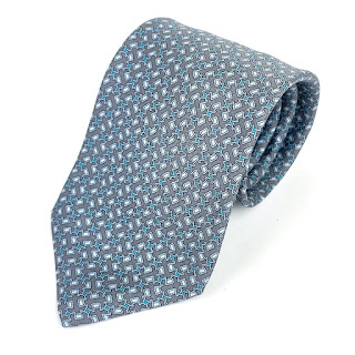 Hermès Grey Tie