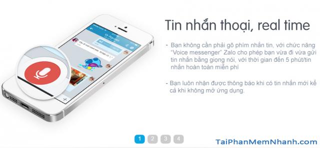Tin nhắn thoại realtime của Zalo
