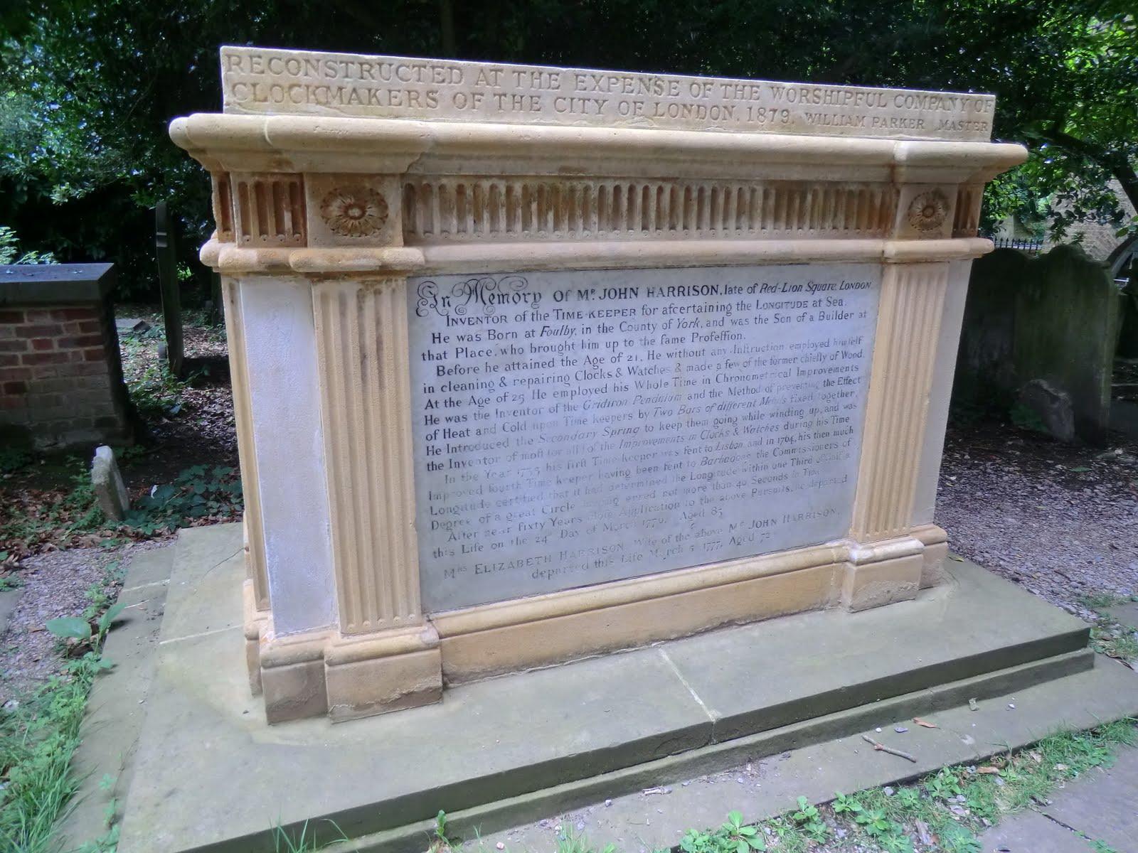 CIMG9408 John Harrison memorial, St John's churchyard
