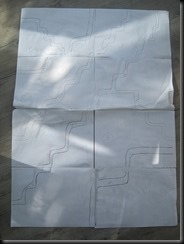 A1 pattern before cutting