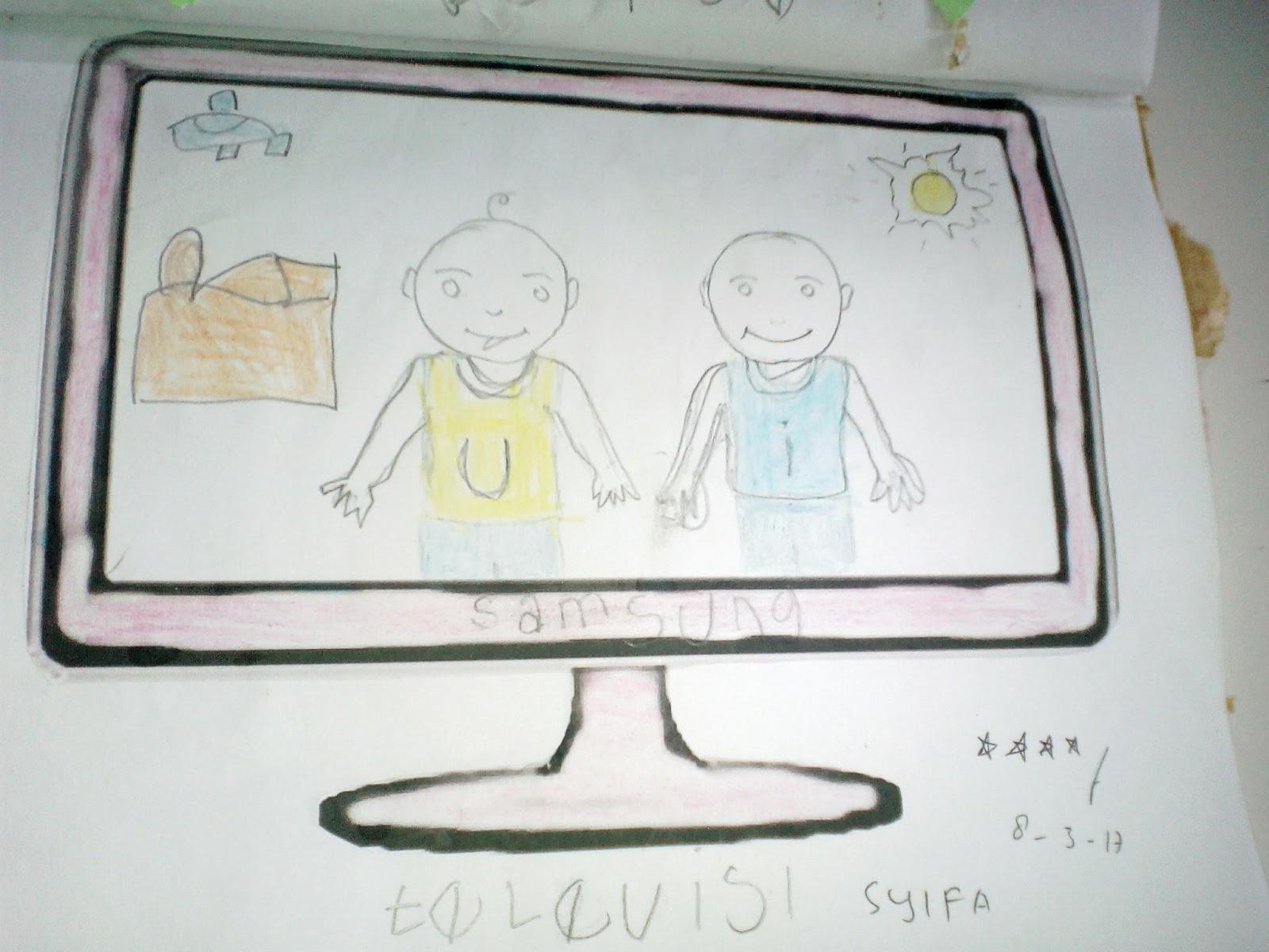 Menggambar Mewarnai Menggunting Gambar Televisi Tk Islam