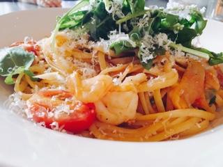 Jamie's Italian Toronto: prawn linguine