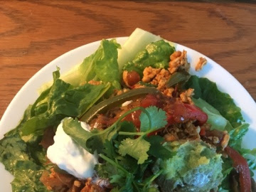 A simple oldie and goodie, updated for my leftovers (Chicken Chipotle taco salad)