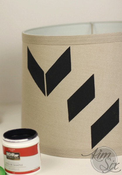 Modern painted lampshade