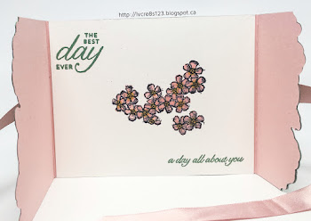 Linda Vich Creates: Floral Thinlits Birthday. Ice cream shades of Blushing Bride and Mint Macaron are the star colors in this birthday card that uses the Detailed Floral Thinlits.