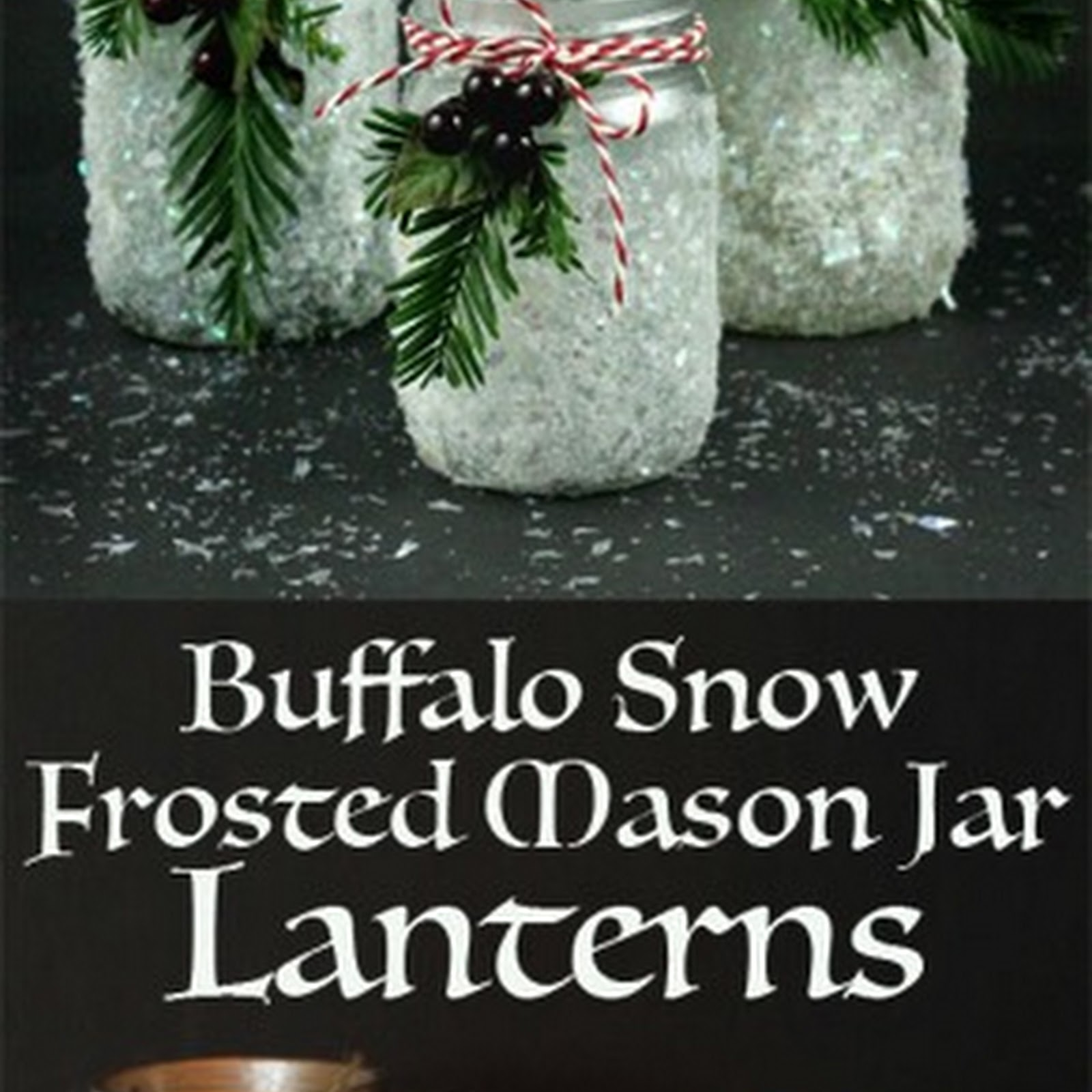 Buffalo Snow Frosted Candle Holders