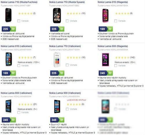 為WP8鋪路  Nokia 大幅下調WP7.5機型價格