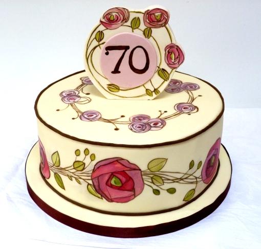 Art Deco Lady Cake : Amelie s House: Art Nouveau Cake