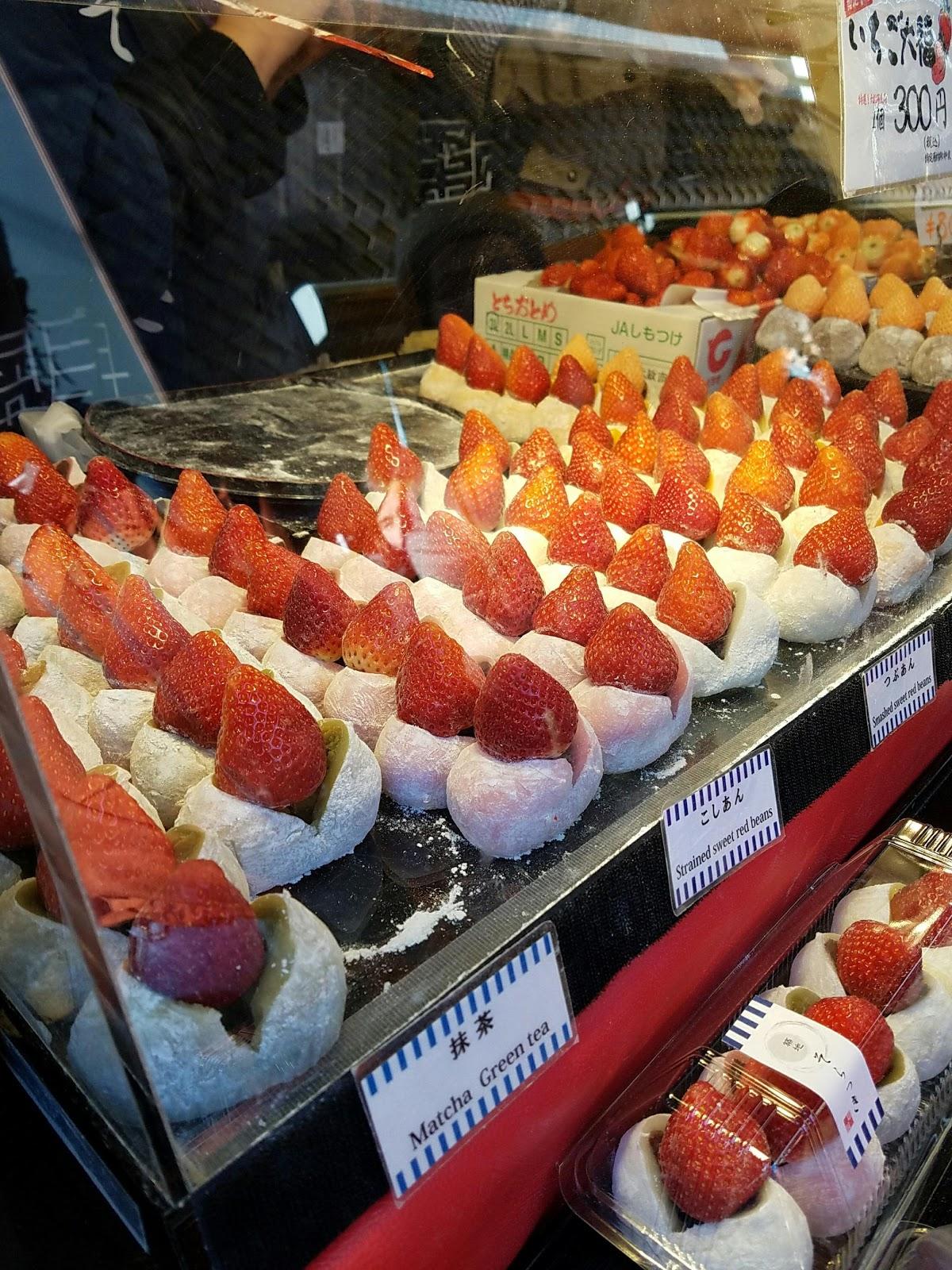 mochi rice flour rice ball ichigo tokyo japan