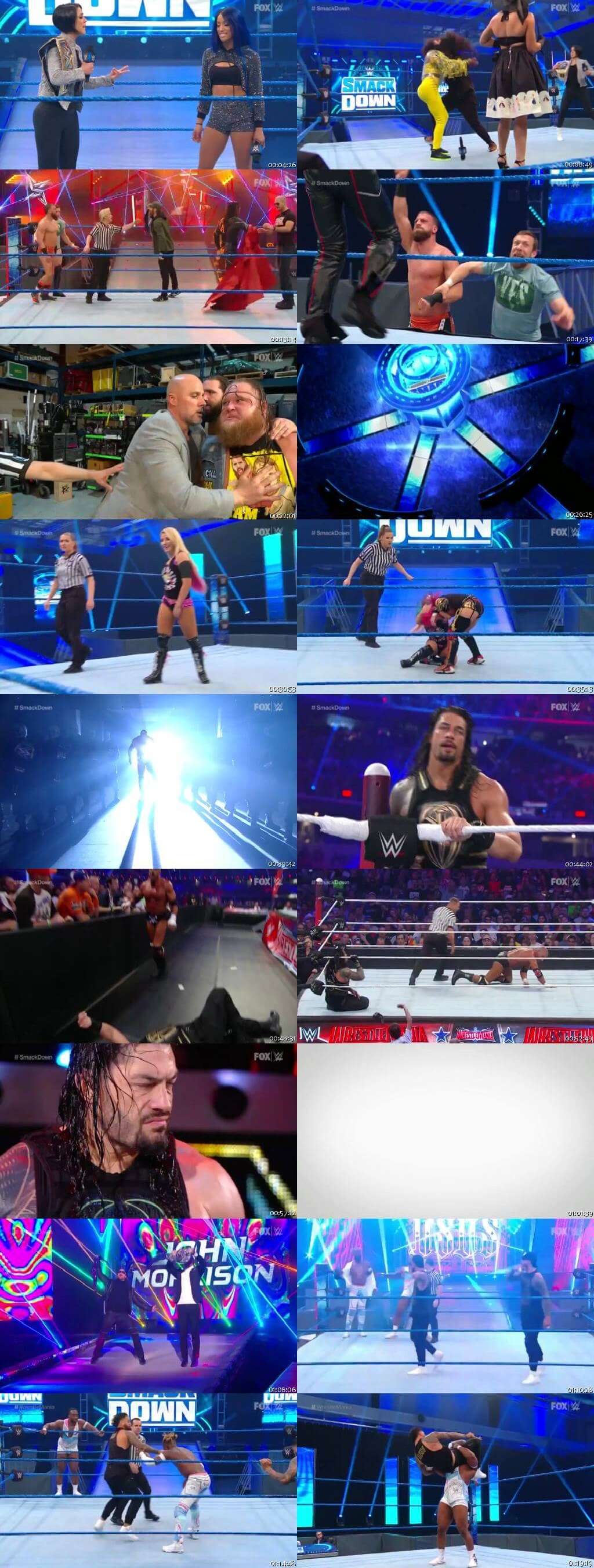 Screen Shot Of WWE SmackDown Live 27th March 2020 HDTV 480P 300MB