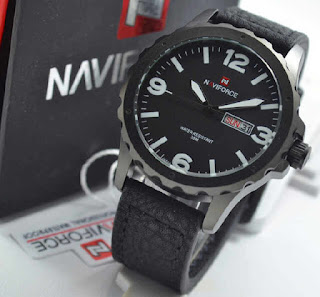 jam tangan NAVIforce NF9039 black leather white
