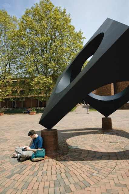 The WWU Outdoor Sculpture Collection is a nationally famous, public art collection displayed throughout the entire campus.Credit: Western Washington University